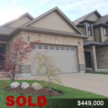 Sold House, London Ontario
